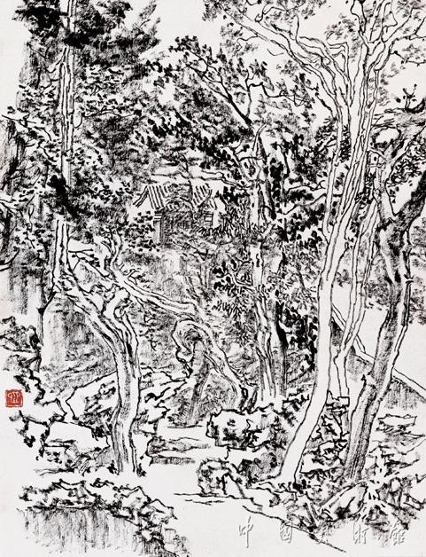 香山写生·林中小屋
