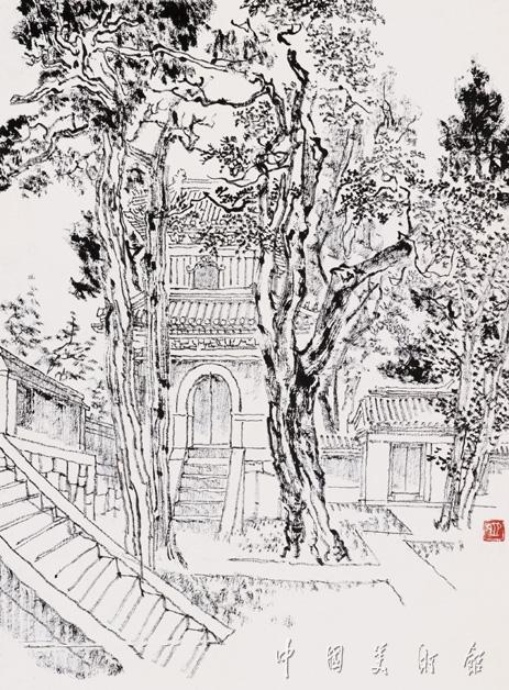 香山路线图简笔画