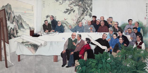 <h2>同绘丹青为人民&#10;</h2><p>作者:马泉</p><p>创作年代:1982</p><p>规格:273×134cm</p><p>品类:国画</p>