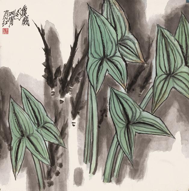 <h2 />《鱼戏图》</h2><p>作者:庄寿红</p><p>创作年代:1987</p><p>规格:68cm×68cm</p><p>品类:纸本设色</p>