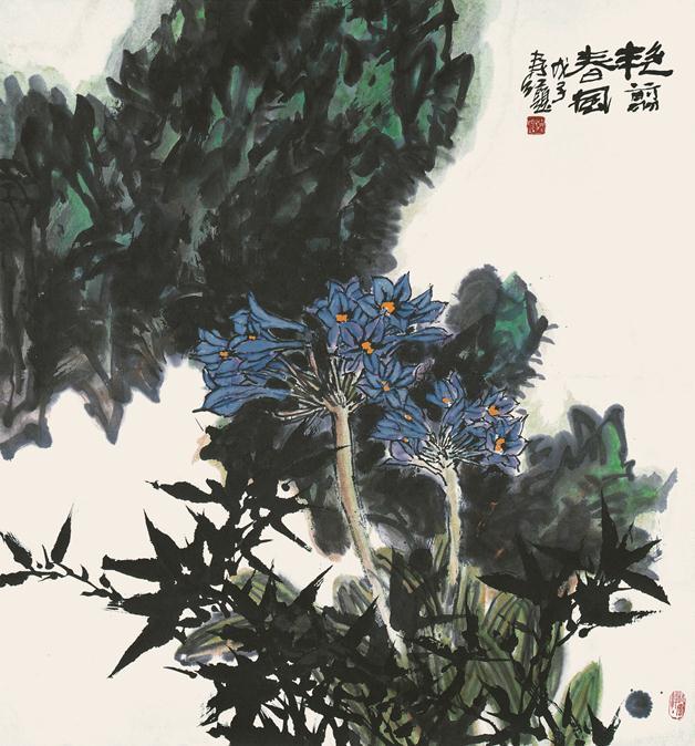 <h2 />《艳翦春风》</h2><p>作者:庄寿红</p><p>创作年代:2008</p><p>规格:95cm×90cm</p><p>品类:纸本设色</p>