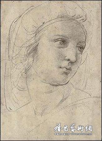 拉斐尔素描《缪斯头像》:有望拍天价创纪录